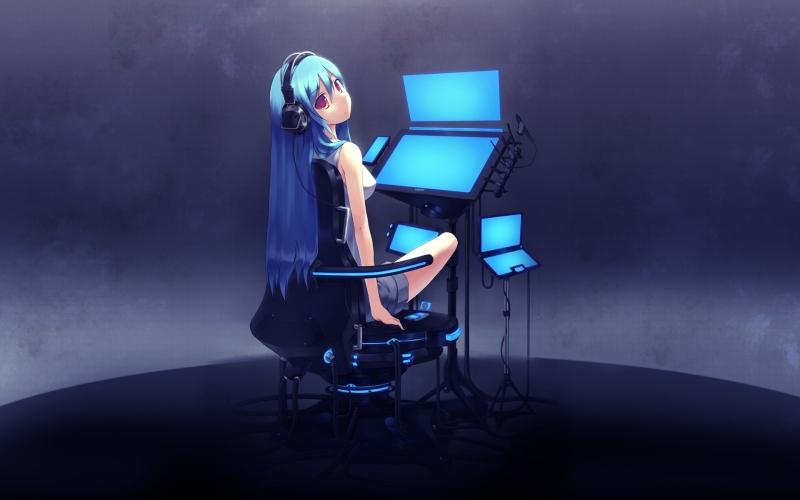 Anime Girl - Technology
