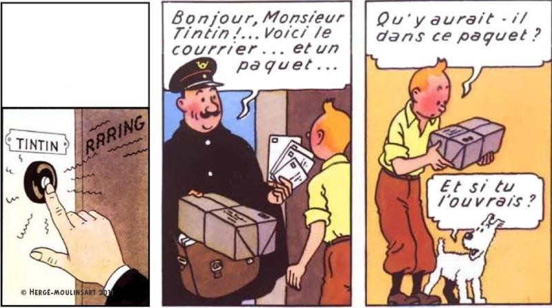 Poste - Colis Tintin